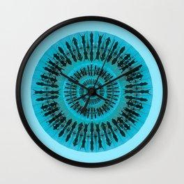 Swim blue Wall Clock