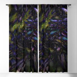Abstract Color Splash Blackout Curtain