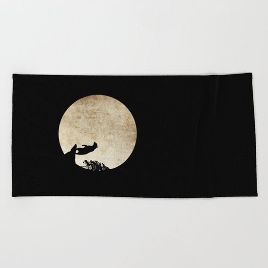 Bear Night Beach Towel