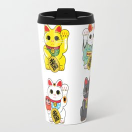 Lucky Cat / Maneki Neko Travel Mug