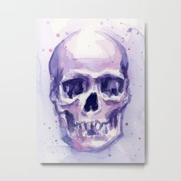 Skull Watercolor Skulls Metal Print