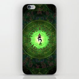 Green Tara Mantra- Protection from dangers and suffering iPhone Skin