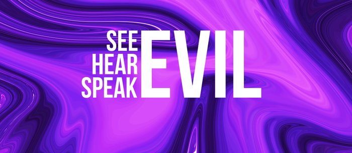 "ABSTRACT LIQUIDS XXIV ""24"" - see evil hear evil speak evil Coffee Mug"
