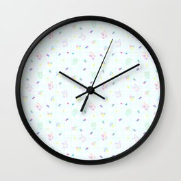 Disco Bots White Wall Clock