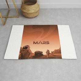 Mars Illustration Rug