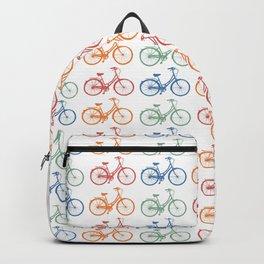 Colorful Bike Pattern Beach Cruiser Backpack