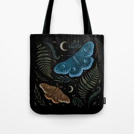 Moths and Ferns Tote Bag