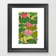 Lotus Garden Framed Art Print