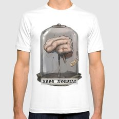 Abby Normal MEDIUM White Mens Fitted Tee