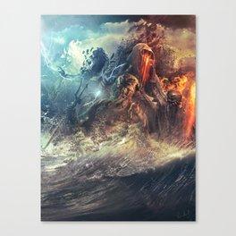 God's War (Kronos art) II Canvas Print