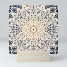 Industrial Threaded Steel Bolts Mandala Fractal Mini Art Print