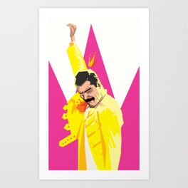 Freddie from Queen comic book cover swag! Mercury Art Print