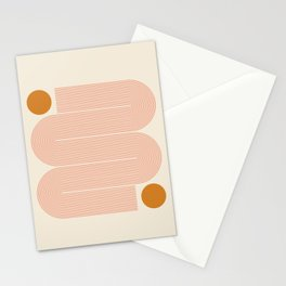 Abstraction_SUN_LINE_ART_Minimalism_002 Stationery Cards