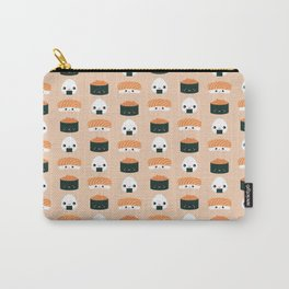 Salmon Dreams in peach, large Carry-All Pouch