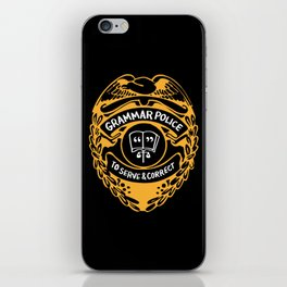 Grammar Police To Serve And Correct iPhone Skin