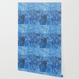 Blue splatters Wallpaper