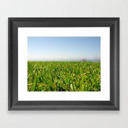 Grassy Cliffside Framed Art Print