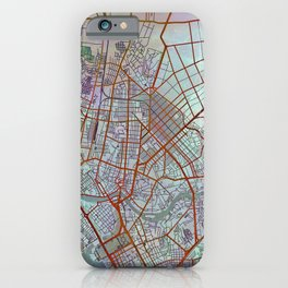 Manila Philippines Watercolor Street Map Urban iPhone Case
