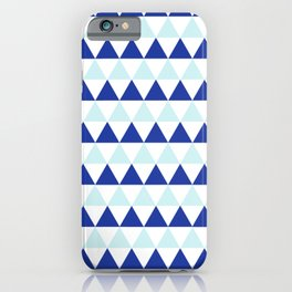 Triangles Pattern in Blue iPhone Case