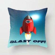 Blast Off! Throw Pillow
