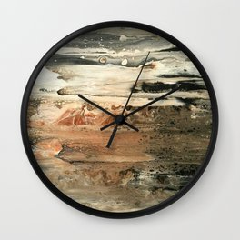 Study in Red Iron Oxide / Mars Mirage Wall Clock
