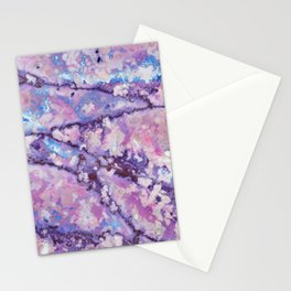 Violet and pink marble texture Stationery Cards