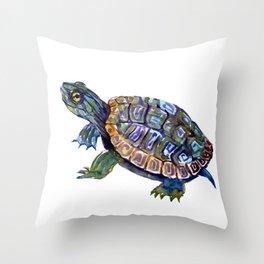 Slider Baby Turtle artwork Throw Pillow