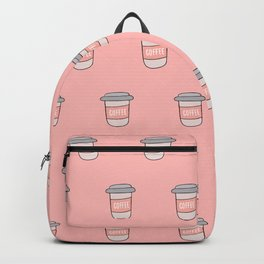 Coffee pattern in pink Backpack