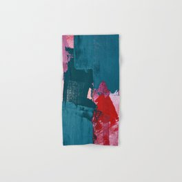 Joy [1]: a vibrant abstract design in purple, red, and teal by Alyssa Hamilton Art Hand & Bath Towel