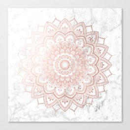 Pleasure Rose Gold Canvas Print