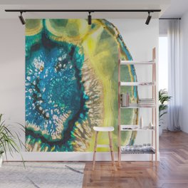 Blue and Yellow Agate Wall Mural