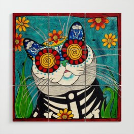 Stormy the Cat Wood Wall Art