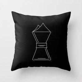 Chemex pictogram Throw Pillow
