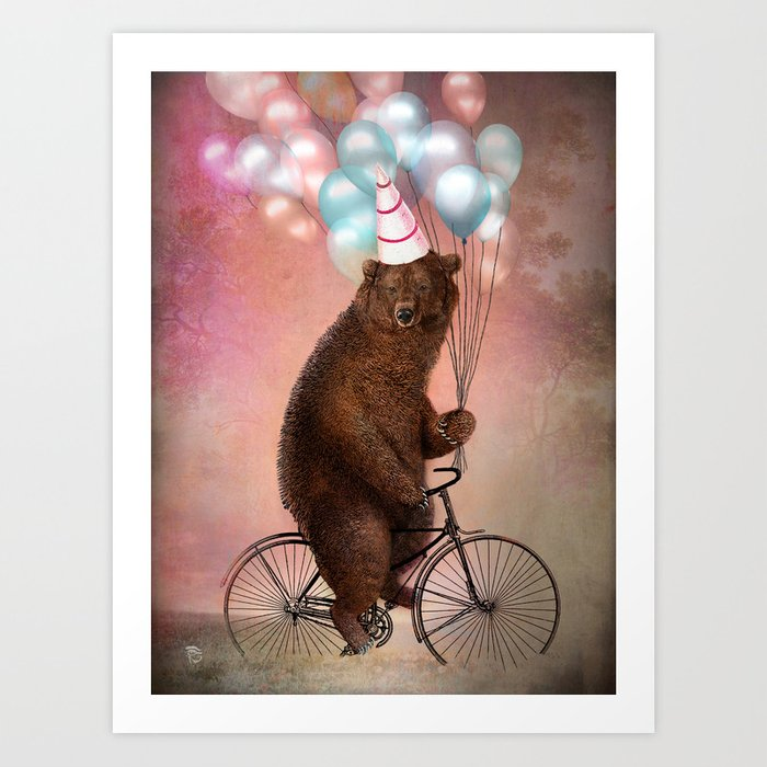 Discover the motif BIRTHDAY BEAR by Christian Schloe as a print at TOPPOSTER