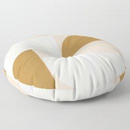 modern geo –blush, cream, gold Floor Pillow