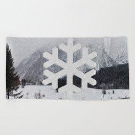 Snowflake Beach Towel