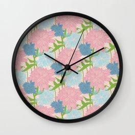 Pale Garden Wall Clock