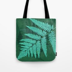 From the forest - turquoise on green Tote Bag