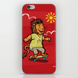 skateboarding Lion iPhone Skin