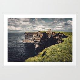 Irish Sea Cliffs Art Print