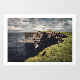 Irish Sea Cliffs Art Print
