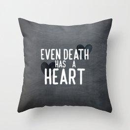 The Book Thief - Even Death Has a Heart Throw Pillow