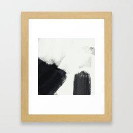 brush stroke black white painted II Framed Art Print