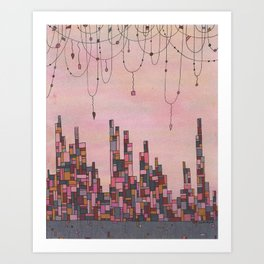 Traveling Skyline Art Print