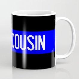 Police: Proud Cousin (Thin Blue Line) Coffee Mug