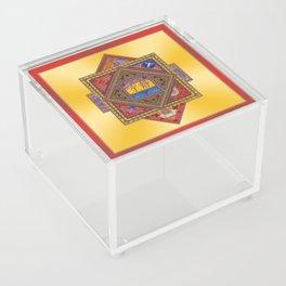 Meditation on Serenity (gradient gold) Acrylic Box