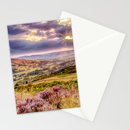 Scenic view of Hope valley, Peak District, U.K. Stationery Cards