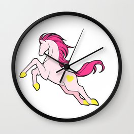 Leaping Pink Wall Clock