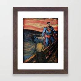 The Superman Scream Framed Art Print