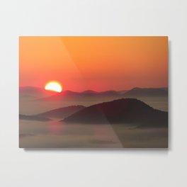 Sunrise Over Blue Ridge Mountains Metal Print